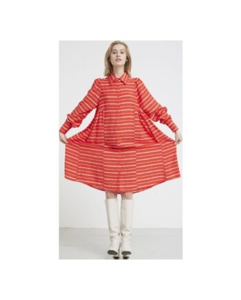 foto af Hunkøn Aida Shirt Dress Red Striped