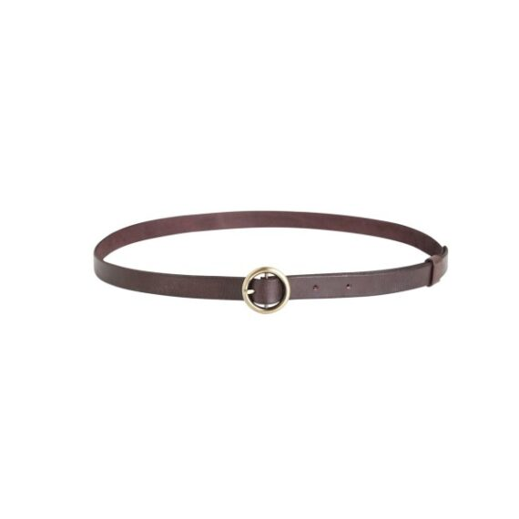 foto af Rabens Saloner Abarna Leather Small Ring Belt Cognac