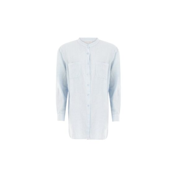foto af Coster Copenhagen Longsleeved Shirt w. Front Pockets Light Blue