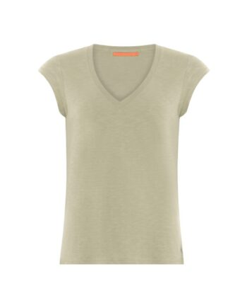 foto af Coster Copenhagen Heart Basic v-neck T-shirt Sea Grass