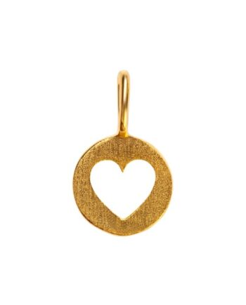 foto af LULU Cut Out Heart Pendant Gold Plated
