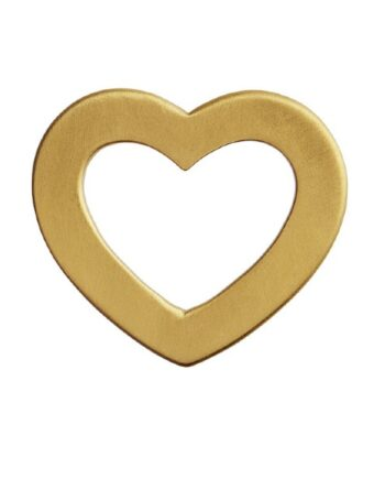 foto af Stine A Open Love Heart Pendant Gold