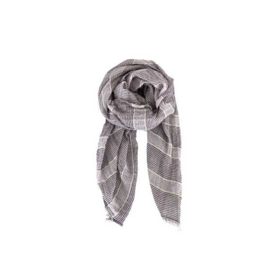 foto af Black Colour Selina Striped Scarf Purple