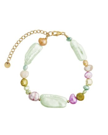foto af Stine A Baroque Pearls Bracelet Blue Mint And Pastel Mix