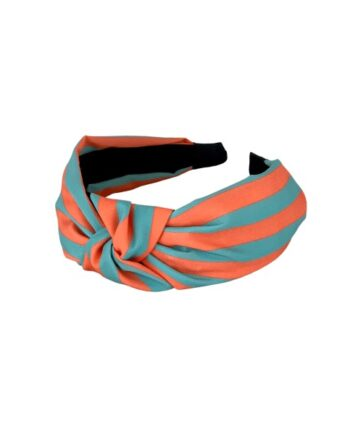 foto af Black Colour Lola Stripe Headband Orange