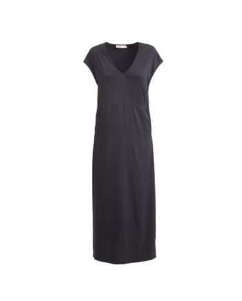 foto af Rabens Saloner Adie Solid Seamed Dress Wrap Back Black