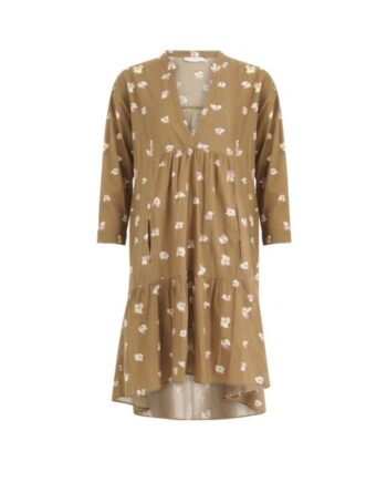 foto af Coster Copenhagen Dress w. Long Sleeves And Pockets Orchid Print Brown