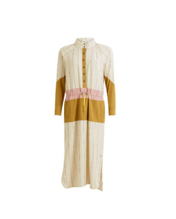Foto af Coster Copenhagen Long dress w. mixed colours and drawstrings