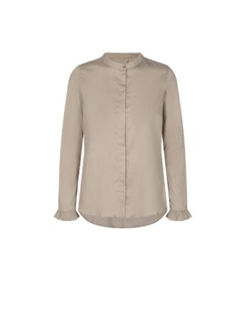 foto af Mos Mosh Mattie Sustainable Shirt Light Taupe