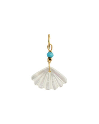 Foto af Stine A White Seashell Pendant Gold Turquoise