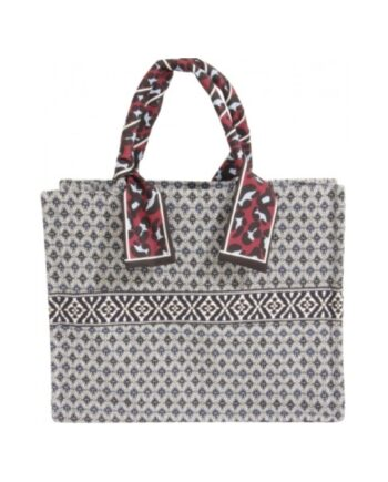 foto af Coster Copehagen Bag in Heavy Jacquard w. Scarf Navy/White