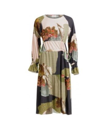 foto af Coster Copenhagen Dress In Cupro w. Mountain Collage Print w. Elastic Cords