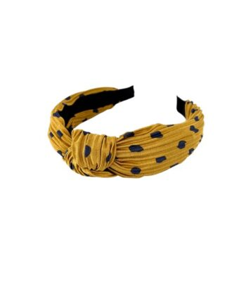 foto af Black Colour Gita Dot Headband Yellow