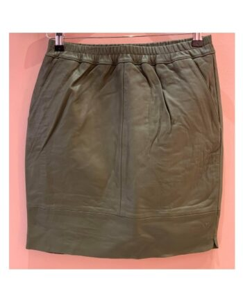 foto af Coster Copenhagen CC Heart Leather Skirt Night Green