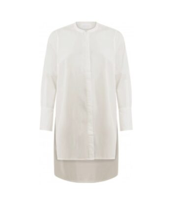 foto af Coster Copenhagen Shirt w. High Cuffs and Striping Details White