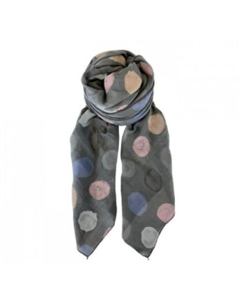 foto af Black Colour Manna Dot Scarf Dark Grey