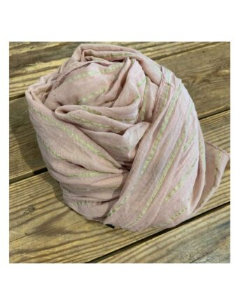 foto af Black Colour Elise Gold Stripe Scarf Rose
