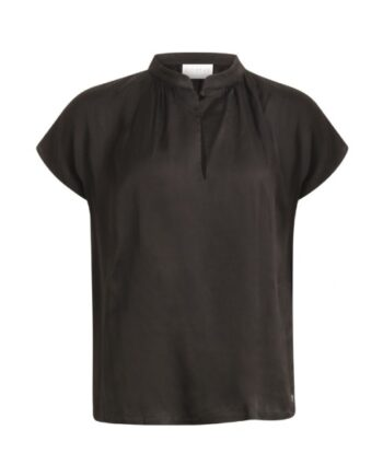 foto af Coster Copenhagen Top w. Stand Collar And Gathering Black