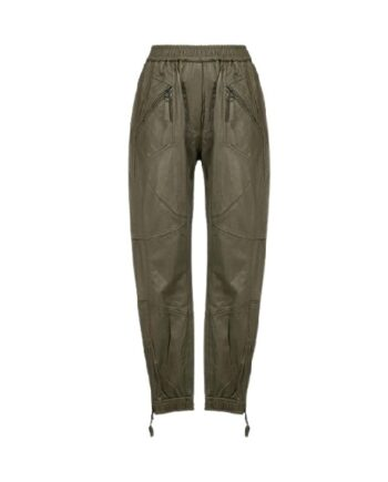 MUNTHE Solona Leather Pants Army