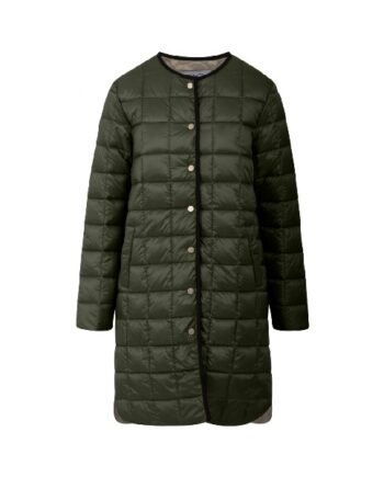 Coster Copenhagen CC Heart Long Quilted Jacket Army Green